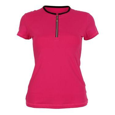 Sofibella Plus Size Short Sleeve Top - Magenta/Black