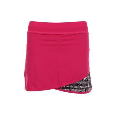 Sofibella Tulum Plus Size 15 Inch Skirt - Magenta/Tulum