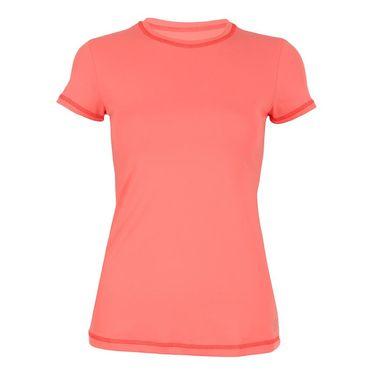Sofibella Fiji Plus Size Athletic Short Sleeve Top - Sorbet