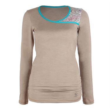 Sofibella Prevail Long Sleeve Top - Sand Melange