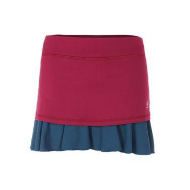 Sofibella Flavor of Wine 14 Inch Plus Size Skirt - Wine/Tropico Blue
