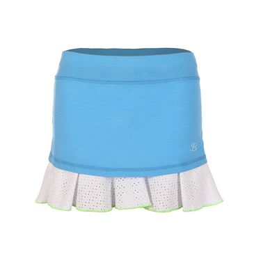 Sofibella Triumph 14 Inch Skirt - Sky Blue Melange/White