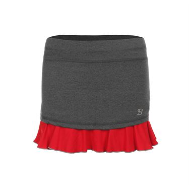 Sofibella Conquest 14 Inch Skirt - Steel Grey/Red