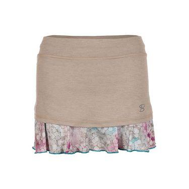 Sofibella Prevail 14 Inch Skirt - Plus Size Sand Melange/Prevail Print