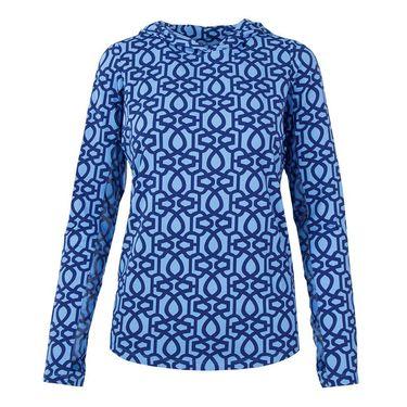 Ibkul Long Sleeve Hoodie - Keleigh Blue/Navy