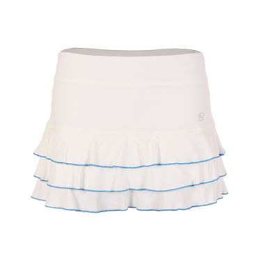 Sofibella Triumph 13 Inch Skirt - White/Sky Blue Melange