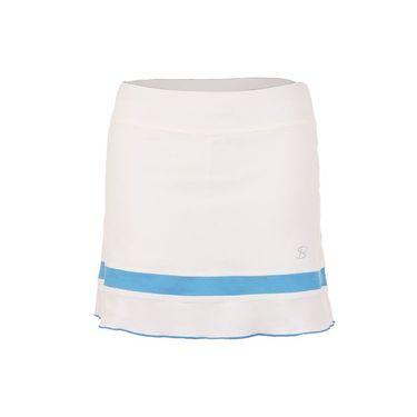 Sofibella Triumph 15 Inch Skirt - White/Sky Blue Melange