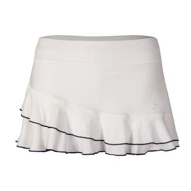 Sofibella Nautical Navy 12 Inch Skirt - White