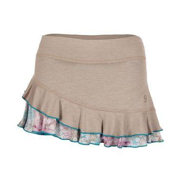 Sofibella Prevail 12 Inch Skirt - Sand Melange/Prevail Print