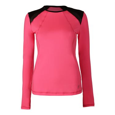 Sofibella Dark Night Long Sleeve Top - Neon Pink