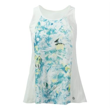 Lija Ethereal Pursuit Flutter Tank - Crystal Print/White