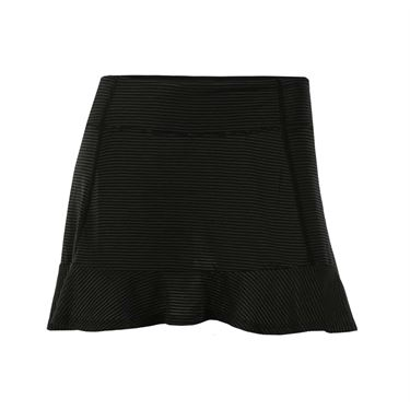 Lija Thermal Atomsphere Stripe Smash Skirt - Black