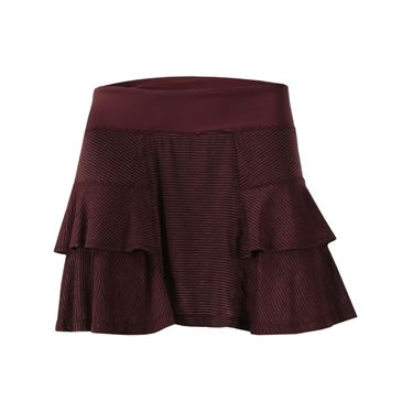 Lija Kinetic Edge Stripe Fever Pitch Skirt - Cabernet