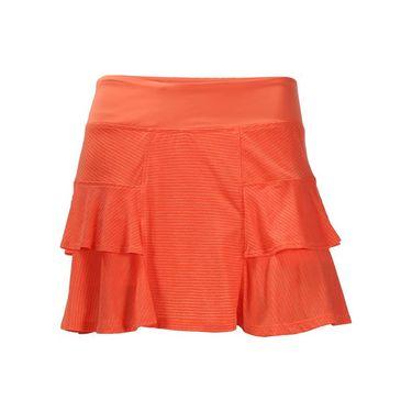 Lija Monumental Stripe Fever Pitch Skirt - Persimmon