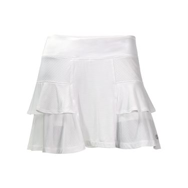 Lija Monumental Stripe Fever Pitch Skirt - White