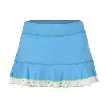 Sofibella Triumph 12 Inch Skirt - Sky Blue Melange/White