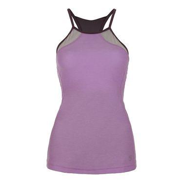 Sofibella Lilac Dream Athletic Halter Top - Lilac Melange