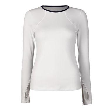 Sofibella Nautical Navy Long Sleeve Top - White