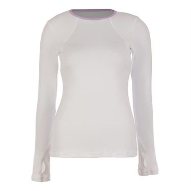 Sofibella Lilac Dream Long Sleeve Top - White/Lilac Melange