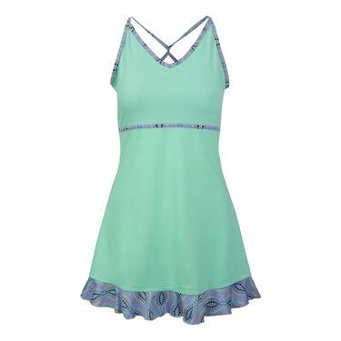 Jerdog Mingle Twist Dress - Mint/Print