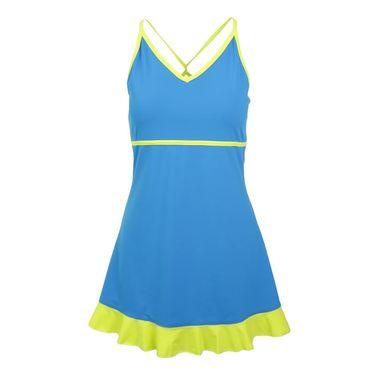 Jerdog Blue Wave Twist Dress - Blue/Citrus