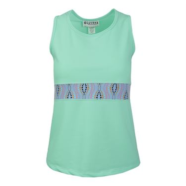 Jerdog Mingle T Back Tank - Mint/Print