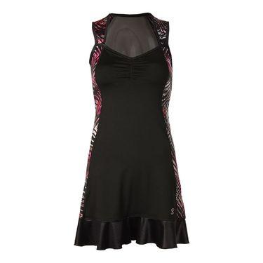 Sofibella Dark Night Full Back Dress - Black/Magic Print