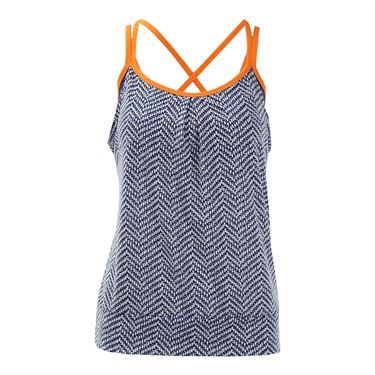 Jerdog Sea Breeze Overlay Tank - Print/Navy
