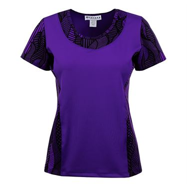 Jerdog Ruby Row Sleeved Spin Top - Purple Print