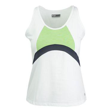 Lija Citrus Summer Persist Tank - White/Leaf Green/Blackberry