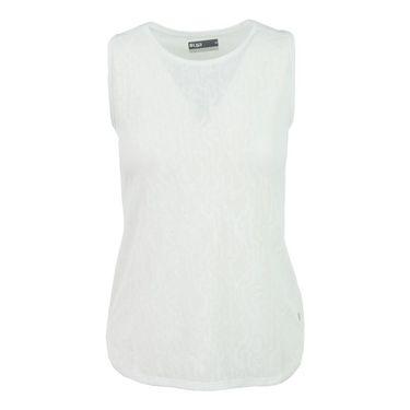 Lija Tropical Sunrise Lace Tank - White