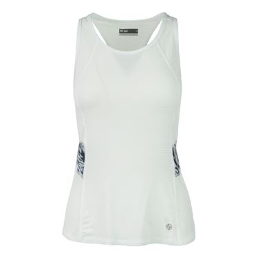Lija Coastal Breeze Elite Tank - White/Swirl Print