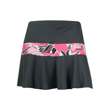 Jerdog Neon Bloom Marrow Skirt - Grey/Print