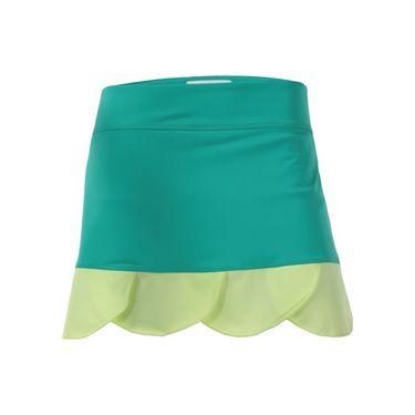 Jerdog Limelight Scalloped Ruffle Skirt - Kiwi/Lemon