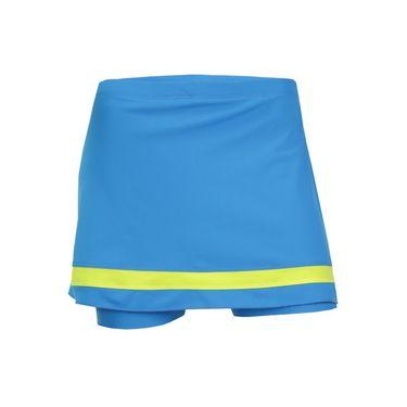 Jerdog Blue Wave Ruffle Skirt - Blue/Citrus