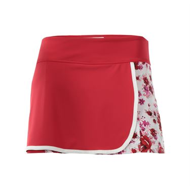 Jerdog Mixed Berries Front Wrap Skirt - Red/Print
