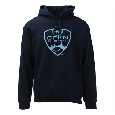 W&S Open Logo Unisex Hooded Sweatshirt - Navy