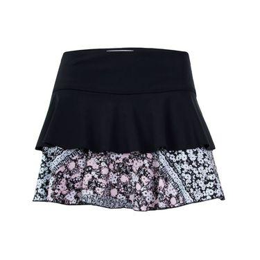 Jerdog Tea Rose On The Run Skirt - Black/Print