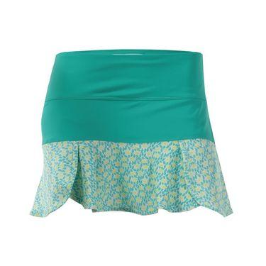 Jerdog Limelight Scalloped Swing Skirt - Kiwi Print