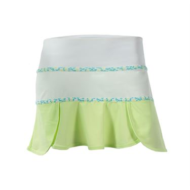 Jerdog Limelight Scalloped Swing Skirt - White/Lemon