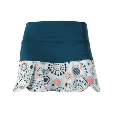 Jerdog On the Run Scalloped Swing Skirt - Bristol Blue/White Print