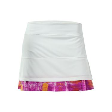 Jerdog Berry Chill Full Pleat Skirt - White/Print