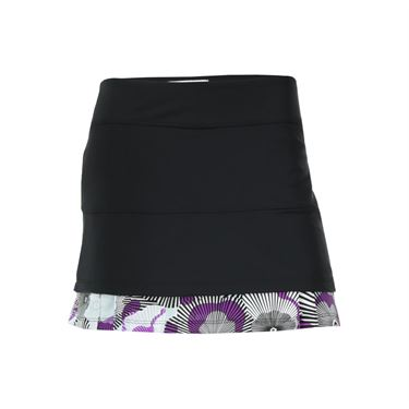 Jerdog Electric Bloom Twin Pleated Skirt - Berry/Blue/Black