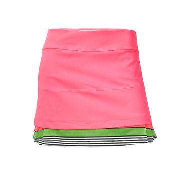Jerdog Pink Apples Twin Pleat Skirt - Pink