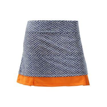 Jerdog Sea Breeze Twin Pleat Skirt - Print/Orange