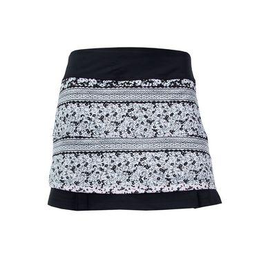 Jerdog Tea Rose Twin Pleat Skirt - Print/Black