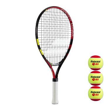 Babolat French Open Junior 21 Tennis Racquet w/ 3 pk Orange Ball
