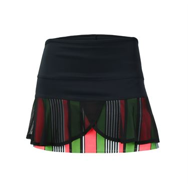 Jerdog Pink Apples Double Scallop Skirt - Black