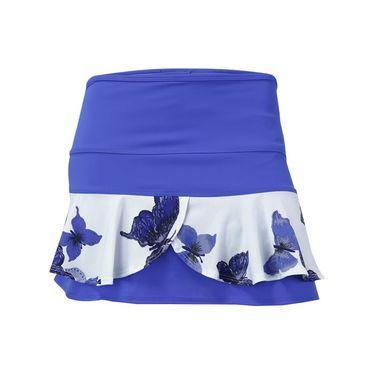 Jerdog Time Flies Double Scallop Skirt - Peri Blue/Print