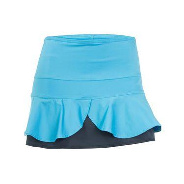 Jerdog Tropic Mist Double Scallop Skirt - Turquoise/Grey
